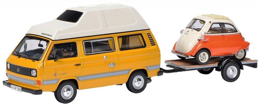 Schuco 1:43 Volkswagen T3 Joker met BMW Isetta