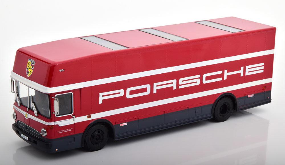 Schuco 1:43 Mercedes O317 Porsche Renntransporter 1968 oplage 600 stuks