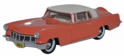 Oxford 1:87 Lincoln Continental MKII 1956 rood wit