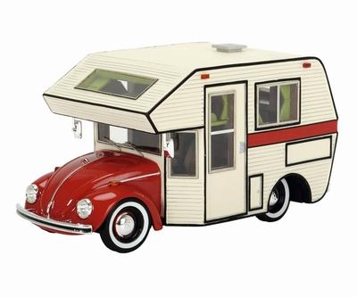 Schuco 1:43 Volkswagen Kever Motorhome rood