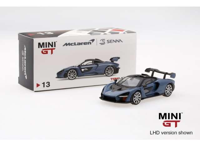 TMS Model 1:64 McLaren Senna LHD blauw
