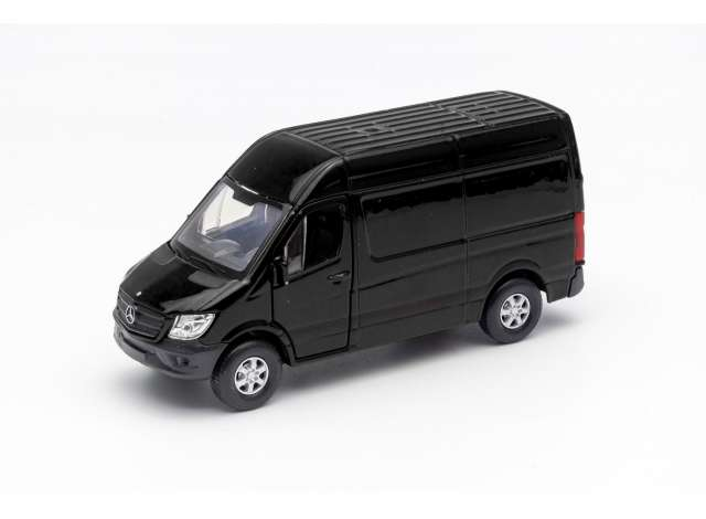 Welly 1:34 Mercedes Benz Sprinter Panel van zwart 2016