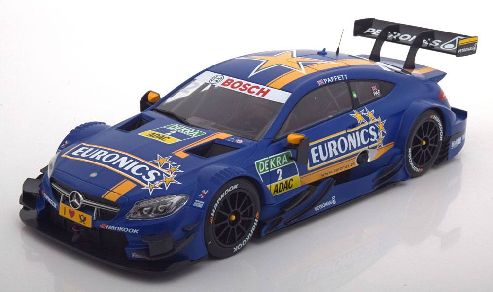Autocult 1:18 Mercedes Benz AMG C63 Euronics No2 DTM 2016