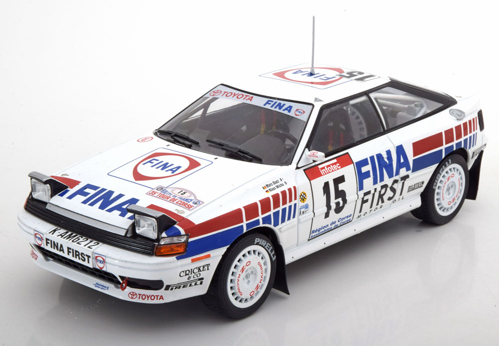 Triple 9 Collection 1:18 Toyota Celica no 15 Rally Tour de Corse M Duez Wicha 1991