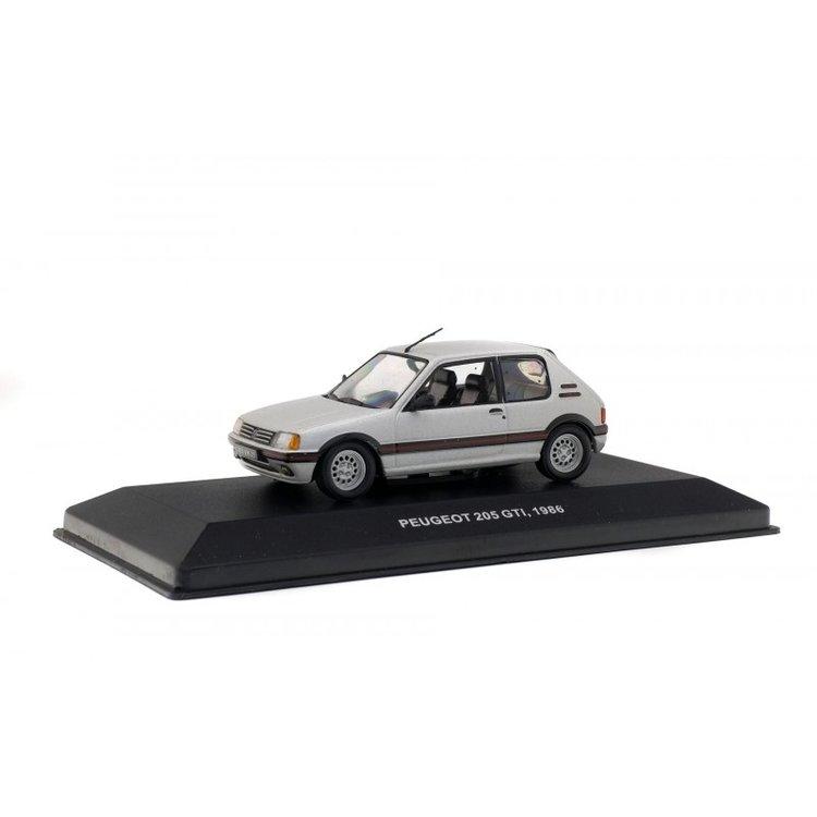 Solido 1:43 Peugeot 205 GTI 1.6L 1986 zilver