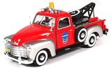 Cararama 1:43 Chevrolet C3100 Pickup Tow Truck rood zilver_