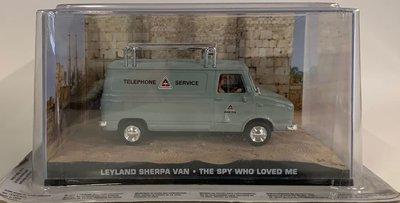 Atlas 1:43 Leyland Sherpa Van James Bond The Spy Who Love Me, in vitrine