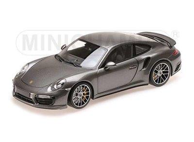 Minichamps 1:18 Porsche 911 Turbo S grey 2016, oplage 504 stuks