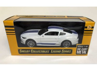 Shelby Collectibles 1:43 Shelby Mustang GT350 wit blauw 2016