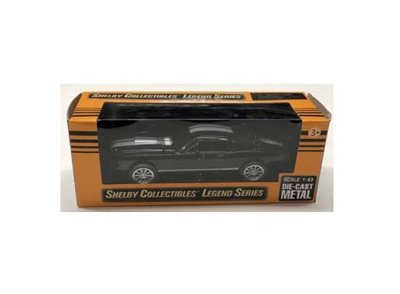 Shelby Collectibles 1:43 Shelby Mustang GT350 zwart wit 1965