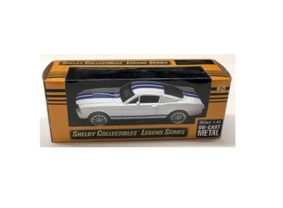 Shelby Collectibles 1:43 Shelby Mustang GT350 wit blauw 1965