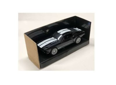 Shelby Collectibles 1:43 Shelby Mustang GT500 zwart wit 1967