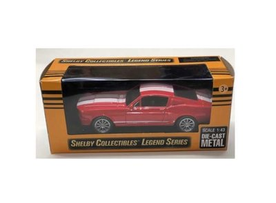 Shelby Collectibles 1:43 Shelby Mustang GT500 rood wit 1967