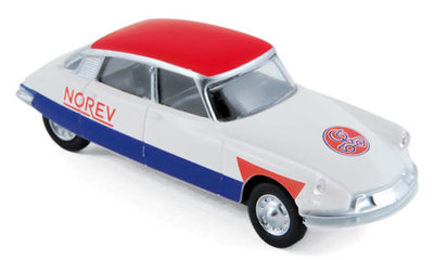 Norev 3 inch Citroën DS19 1958 Cycliste - Blue White Red
