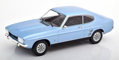 MCG 1:18 Ford Capri MK I 1600 XL metallic lichtblauw