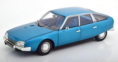 Norev 1:18 Citroën CX 2000 1974 Delta Blue metallic, Diecast model.