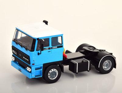 IXO 1:43 Daf 2800 blauw wit 1975 Trekker