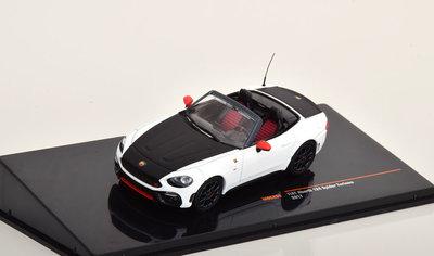 IXO 1:43 Fiat Abarth 124 Spider Turismo 2017 wit zwart