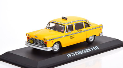 Greenlight 1:43 Checker Taxi Travis Bickle's Taxi Driver 1975 geel