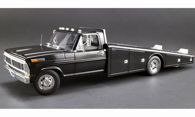 ACME 1:18 Ford f-350 Ramp Truck 1970 black , diecast body sealed