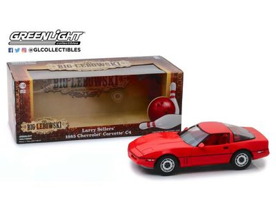 Greenlight 1:18 Chevrolet Corvette C4 1985, Little Larry Sellars The Big Lobowski (1998), red