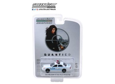 Greenlight 1:64 Ford Crown Victoria 2003 Police Interceptor New York City Police Dept NYPD Quantico 2015-18