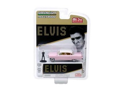 Greenlight 1:64 Cadillac Fleetwood 1955 Elvis Presley with Figure pink