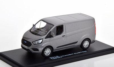 Greenlight 1:43 Ford Transit Custom V362 MCA 2018 grijs metallic