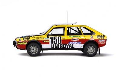 Otto Mobile 1:18 Renault 20 Turbo 4x4 -Paris Dakar 1982 C. Marreau / B. Marreau. Levering 09/2019