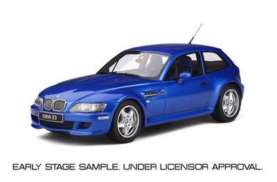 Otto Mobile 1:18 BMW Z3 M Coupe 3.2 Estoril Blau . Levering 10/2019. Te reserveren