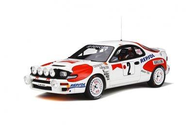 Otto Mobile 1:18 Toyota Celica ST185 Monte Carlo 1992 C. Sainz - L. Moya. Levering 10/2019. Te reserveren