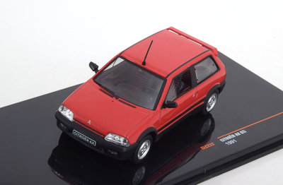IXO 1:43 Citroen AX Gti rood 1991