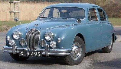 Cult Models 1:18 Jaguar 2.4 MKI blauw 1955, nog geen definitieve foto