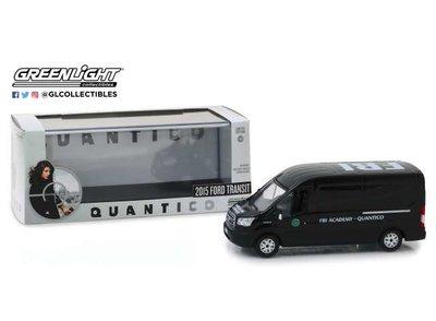 Greenlight 1:43 Ford Transit 2015 FBI Academy Quantico zwart