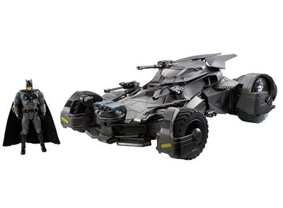 Hotwheels Mattel 1:10 Batman Justice League RC auto Batmobile met Figure
