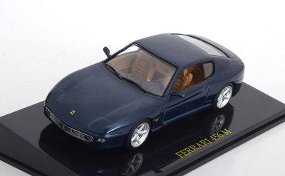 Atlas 1:43 Ferrari 456 M donkerblauw 1995 in vitrine
