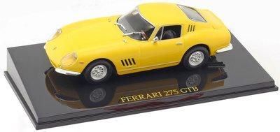 Atlas 1:43 Ferrari 275 GTB geel in vitrine