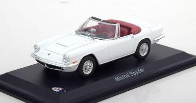 Atlas 1:43 Maserati Mistral Spyder 1964 wit in vitrine