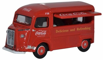 Oxford 1:76 Citroen H TYPE VAN COCA COLA rood in vitrine