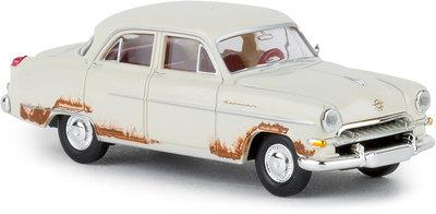 Brekina 1:87 Opel Kapitan wit met roestvlekken