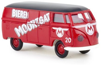 Brekina 1:87 Volkswagen T1b Bieren Moortgat rood met zwarte dak