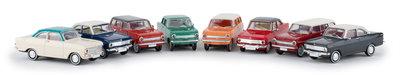 Brekina 1:87 Opel Kadett A set 8 stuks