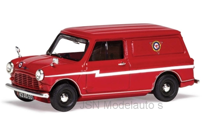 Vanguards 1:43 Morris Mini Van RHD Red Arrows