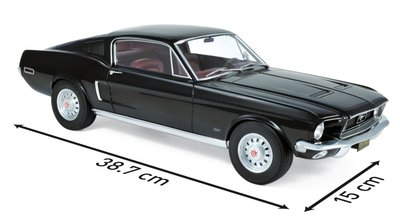 Norev 1:12 Ford Mustang Fastback 1968 - Black