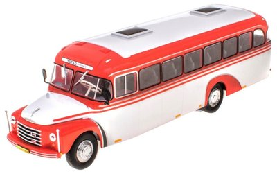 Atlas 1:43 Volvo B 375 Sweden 1957 wit rood in blisterverpakking