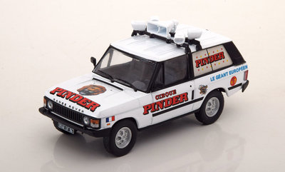 Atlas 1:43 Range Rover 4x4 Serie 1 Circus Pinder Le Geant Europeen wit