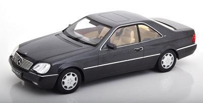 KK Scale 1:18 Mercedes 600 SEC C140 1992 zwart