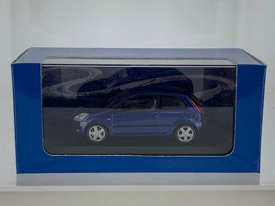 Minichamps 1:43 Ford Fiesta 2002 blauw, in dealer verpakking