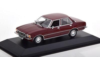 Maxichamps 1:43 Opel Rekord D Limousine 1975 donkerrood