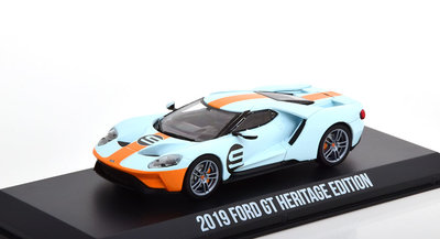 Greenlight 1:43 Ford GT No 9 Gulf Racing Oil Color Scheme Heritage Edition 2019
